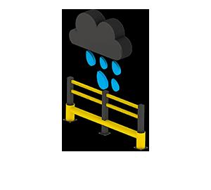 Les avantages des barrières amortissantes - Pas de corrosion - Barriere-de-protection.fr