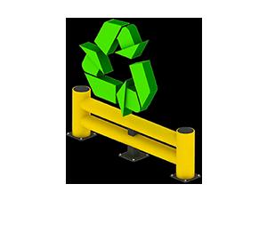 Les avantages des barrières amortissantes - Recyclable et faible empreinte écologique - Barriere-de-protection.fr