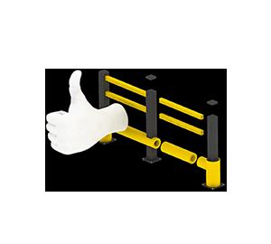 Les avantages des barrières amortissantes - Une installation facile et modulaire - Barriere-de-protection.fr