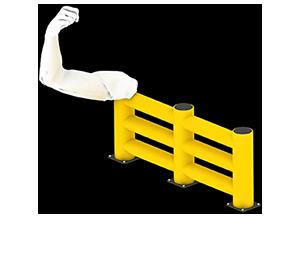 Les avantages des barrières amortissantes - Une résistance équivalente au métal - Barriere-de-protection.fr
